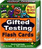 Gifted Testing Flash Cards – Spatial Concepts for Pre-K - 2nd Grade Non-Verbal Tests – Kindergarten Educational Toy Practice for NNAT test, CogAT test, OLSAT test, NYC Gifted and Talented, WPPSI