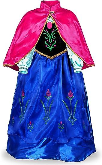 JerrisApparel Ragazze Principessa Costume Neve Festa Halloween Cosplay Vestito