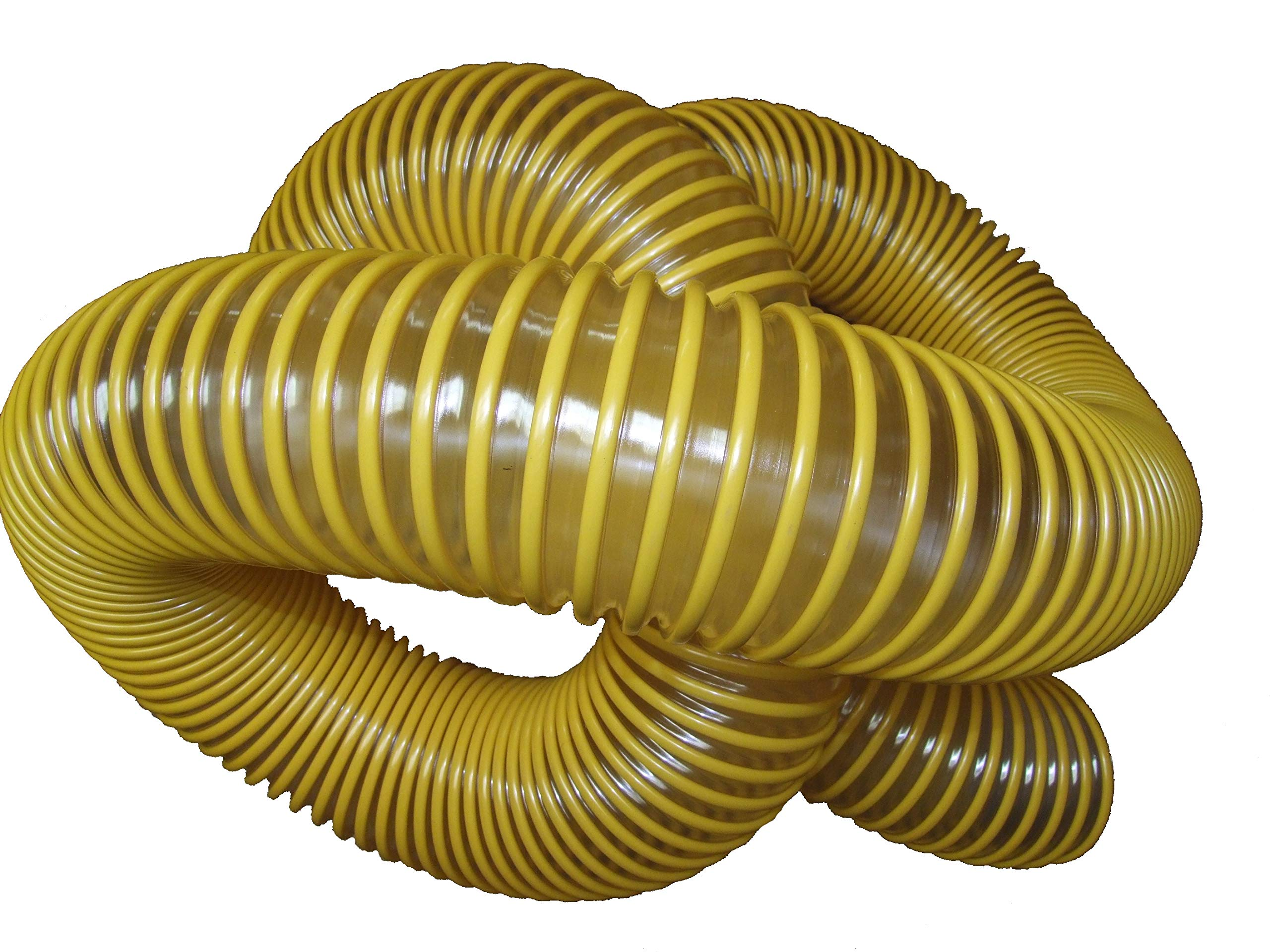 Leaf Vacuum Collection Yard Hose (6 inch x 8 Feet) | Clear Urethane .030'' Wall ... (Yellow, 8') by Universal Hose and Fittings