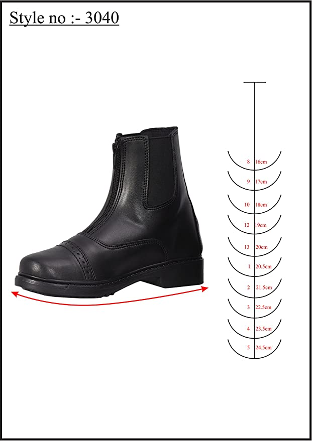 Details about  /NEW Kids Lined Paddock Boots Black Size 1