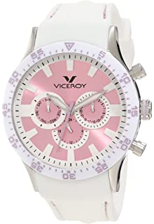 Viceroy Womens 432142-95 Lavender/White Rubber Watch