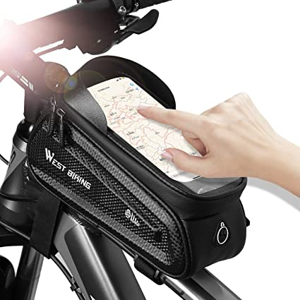 UMBEST Bike Frame Bag Sport Bicycle Bike Storage Bag Bicycle Triangle bag Front Tube Touchscreen Saddle Bag Rack Mountain Road Bicycle Pack Double Pouch Mount Phone Bags