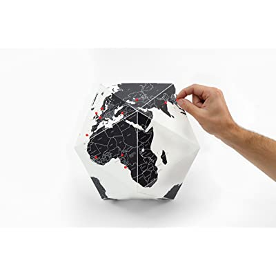 Here - The Personal Globe by Countries Black (Small) -Palomar: Office Products
