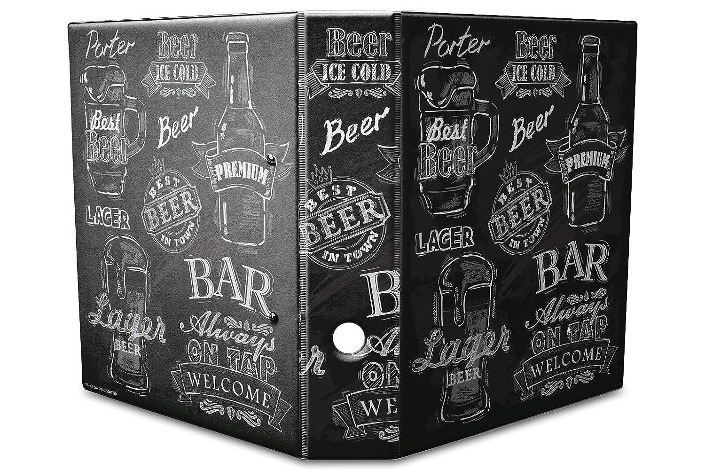 Diseño de documentos Carpeta estampado 60 mm din a4 cerveza variedades: Amazon.es: Oficina y papelería