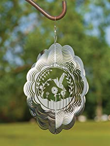 VP Home Kinetic 3D Metal Garden Wind Spinner (Hummingbird)