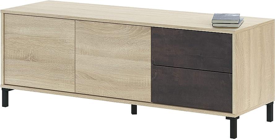 Habitdesign 0X6622F - Modulo de TV, Modelo Brooklyn, Roble Canadian y oxido, Medidas: 130 cm (Ancho) x 47 cm (Alto) x 41 cm (Fondo): Amazon.es: Juguetes y juegos