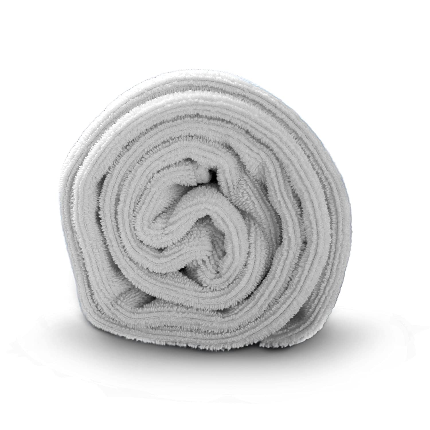 Luxe Beauty Essentials Microfiber Hair Towel for Drying Curly, Long & Thick Hair- Large 20 x 40 Grey : Beauty