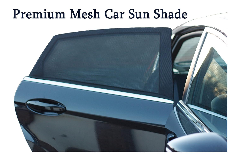 Rete parasole da auto, per retro finestre, protezione UV/Blocks Sun riflesso e il flusso d'aria, 2 confezioni, di facile installazione protezione UV/Blocks Sun riflesso e il flusso d' aria Drina Pvt Ltd Brand New 2017 Material Fits All Cars