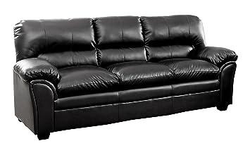 Amazon.com: Homelegance 8511BK-3 Talon Contemporary Sofa ...