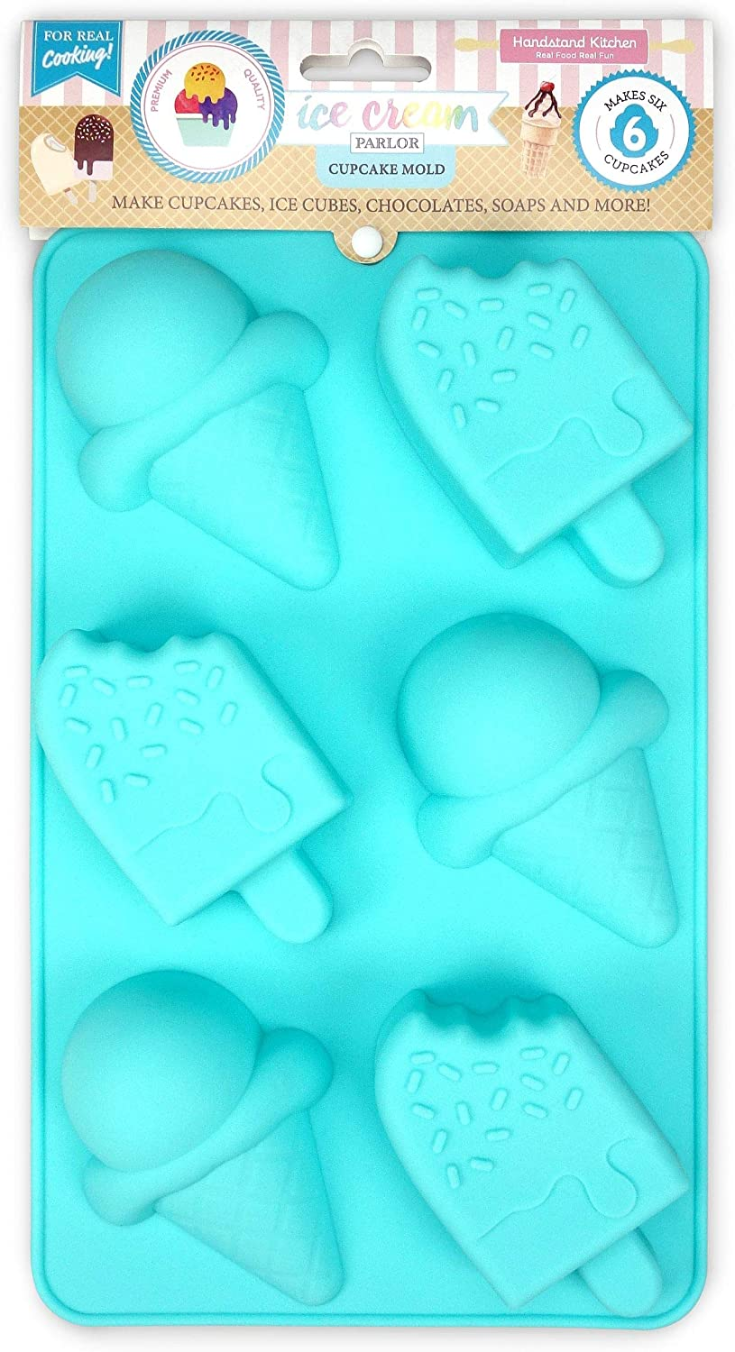 Handstand Kitchen Ice Cream Parlor Silicone Cone and Pop Shaped Cupcake Mold