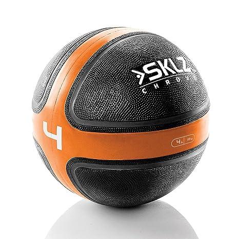 SKLZ Medicine Ball 8.5 - Balón Medicinal de Fitness y Ejercicio, 1 ...
