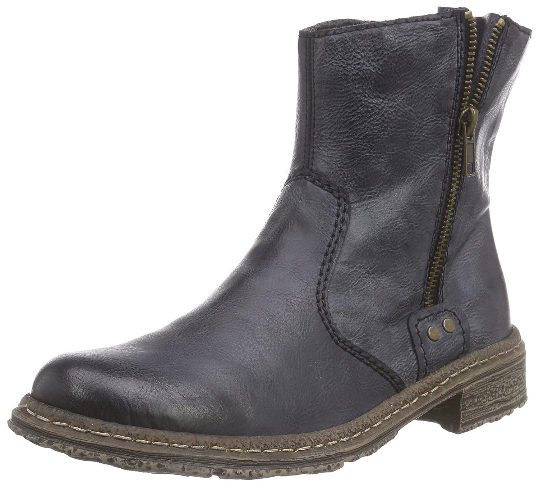 Rieker 74261, Damen Kurzschaft Stiefel, Blau (ozean14), 42 EU (8 Damen UK)