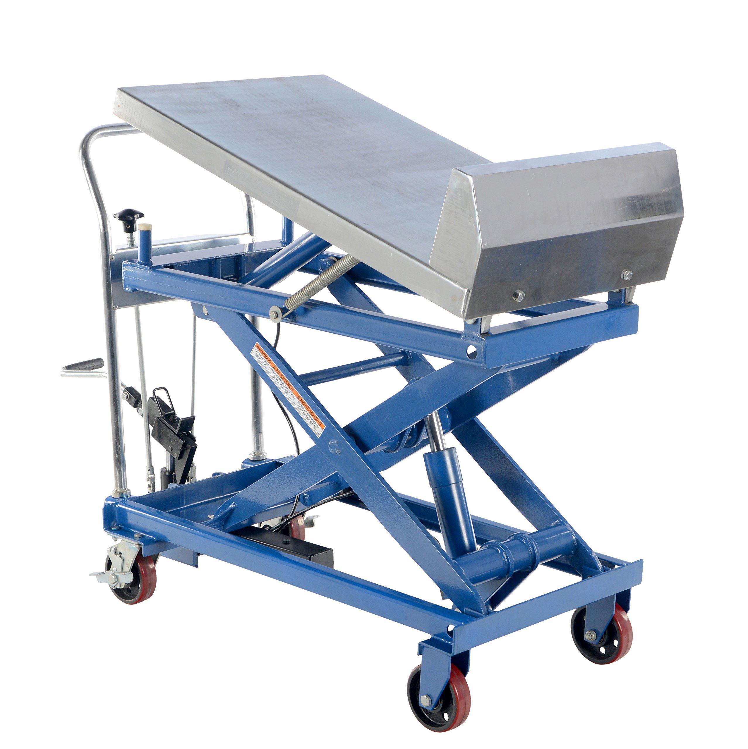 Vestil CART-1000-LT Steel Lift and Tilt Cart with Sequence Select, 1,000 lb. Capacity, 33-1/2'' x 17-5/8'' Platform