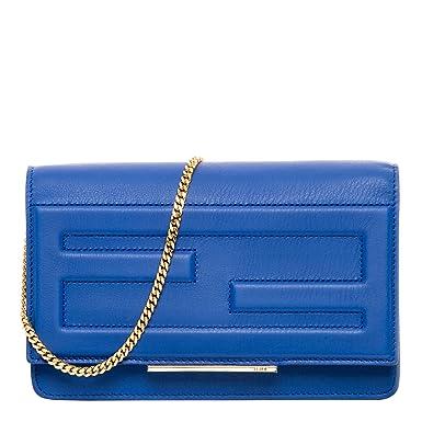 logo clutch bag - Blue Fendi ahb3A