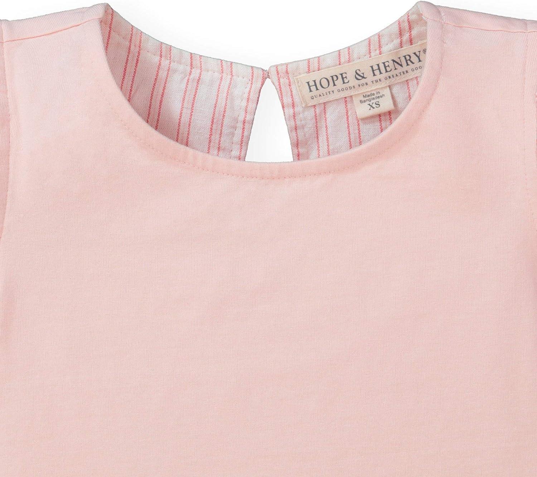 Hope /& Henry Girls Woven Ivory Peplum Blouse