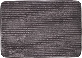 DiB TMF050-1000/103 Tapete de Entrada Memory Foam Lines Gris Oscuro, 50 x 70 cm