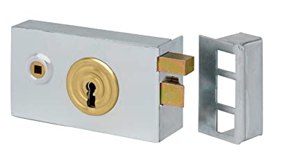 Cerradura horizontal de fouillot galvanizado para portales, 82 x 140 ...