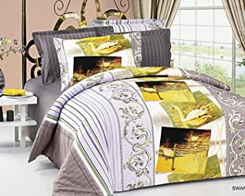 fullqueen size duvet cover sheets set swan by arya