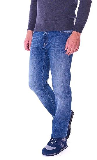 Jeans Trussardi Uomo 380 Icon graffiato 52J00001-1T000059 Blu ... e69b261ae7e
