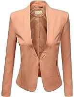 J.TOMSON Women's Semi Formal Open Front Rolled Up Sleeve Boyfriend Blazer