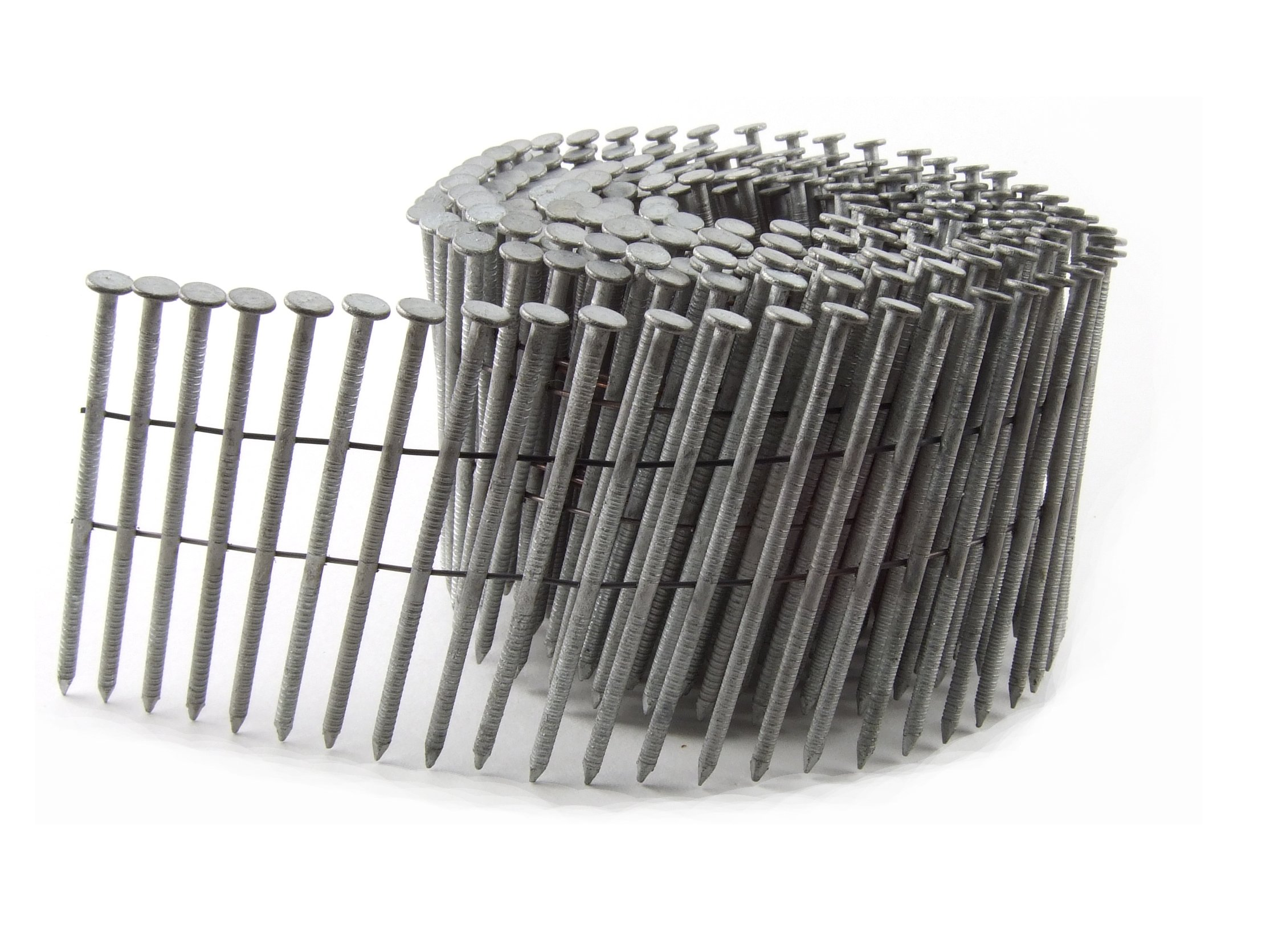 B&C Eagle 314X120HDRC Round Head 3-1/4-Inch x .120 x 15 Degree Hot Dip Galvanized Ring Shank Wire Collated Coil Framing Nails (2,500 per box)