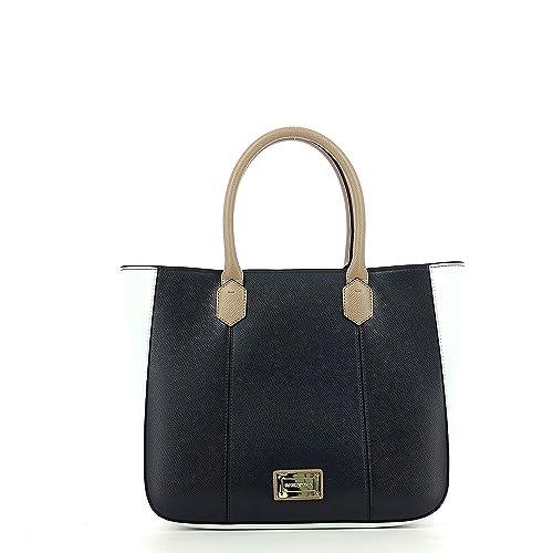 81310ecb7415 Borsa Donna EMPORIO ARMANI Y3D089 YH21A Eco pelle Tracolla piccola  Primavera Estate 2018 Blu bianco UNI  Amazon.co.uk  Shoes   Bags