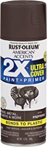Rust-Oleum 327919 American Accents Spray Paint, 12 Oz, Satin Espresso