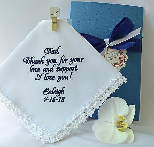 Amazon Com Father Of The Bride Wedding Handkerchief Gift For Dad