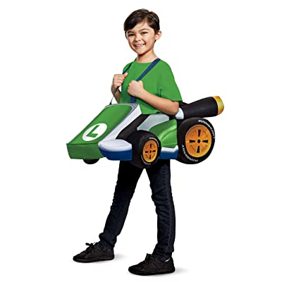 Disguise Luigi Kart Super Mario Bros Costume for Kids: Disguise: Toys & Games