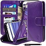 Motorola Moto G (3rd Gen) Case, Moto G3 Case, Style4U Premium PU Leather Stand Wallet Case with ID Credit Card / Cash Slots for Motorola Moto G (3rd Generation) / Moto G3 + 1 Stylus [Purple]