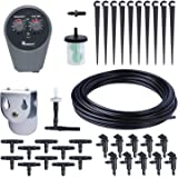 Yardeen Watering Kit Automatic Drip Irrigation Controller Set Garden Water Timer Color Black