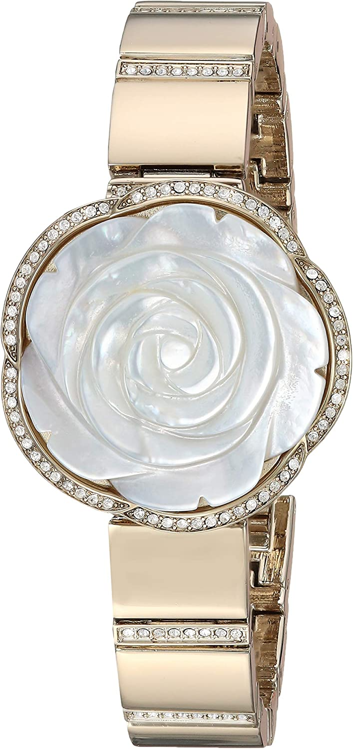 Anne Klein Women's Swarovski Crystal Accented Covered Dial Watch Gold