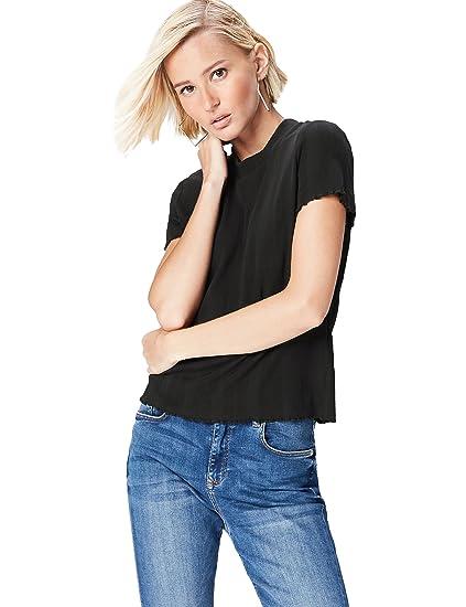 db4fab2419ab28 FIND Damen T-Shirt mit rundem Ausschnitt  Amazon.de  Bekleidung