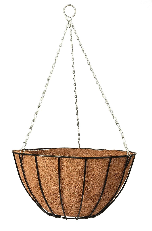 maceta de coco con cadena metal 30 cm