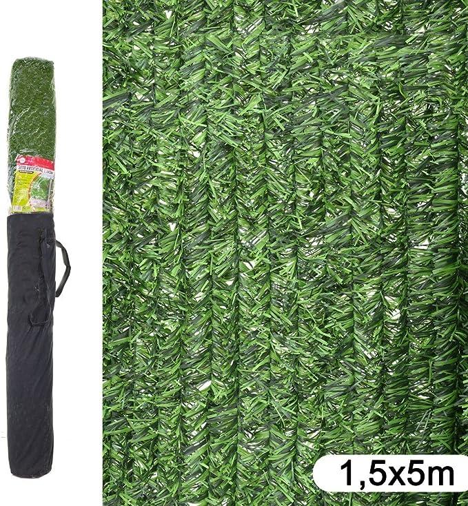Ldk Garden 82188 - Seto artificial de ocultación para jardín, 500 x 150 x 20 cm, color verde: Amazon.es: Jardín