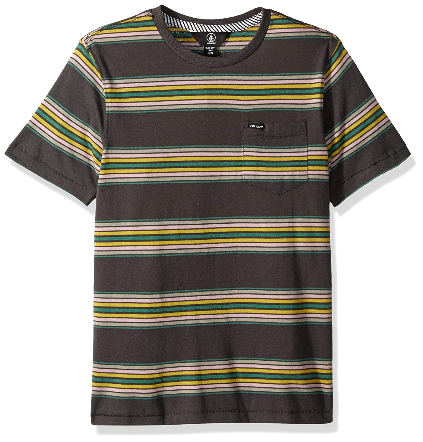 2b9977fd Amazon.com: Volcom Big Boys' Idle Crew Short Sleeve Striped Pocket Tee:  Clothing