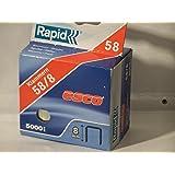 Rapid 61058080050 - Desviación estándar 58/8 mm de clip-lote 5000 cuadro