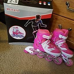 Amazon Com Tuko Girls Rollerblades Adjustable Inline Skate Roller Skates Small Little Kid 12 1 Us Sports Outdoors
