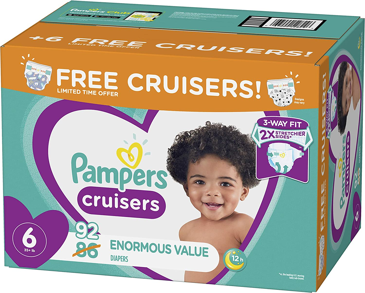 Pampers Cruisers Disposable Baby Diapers Diapers Size 7 70 Count Enormous Pack