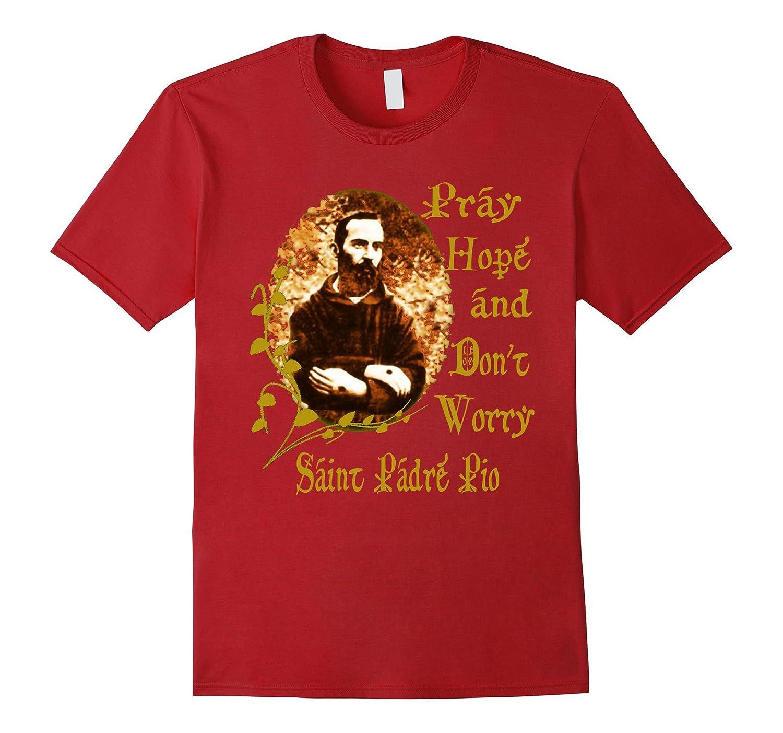 Padre Pio T-Shirt Saints T-Shirt Catholic T-Shirt-TD