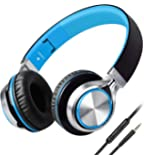 Headphones,BienSound HW50 Stereo Folding Headsets Strong Low Bass Headphones with Microphone for iPhone, All Android Smartphones, PC, Laptop, Mp3/mp4, Tablet Macbook Earphones (Black&Blue)