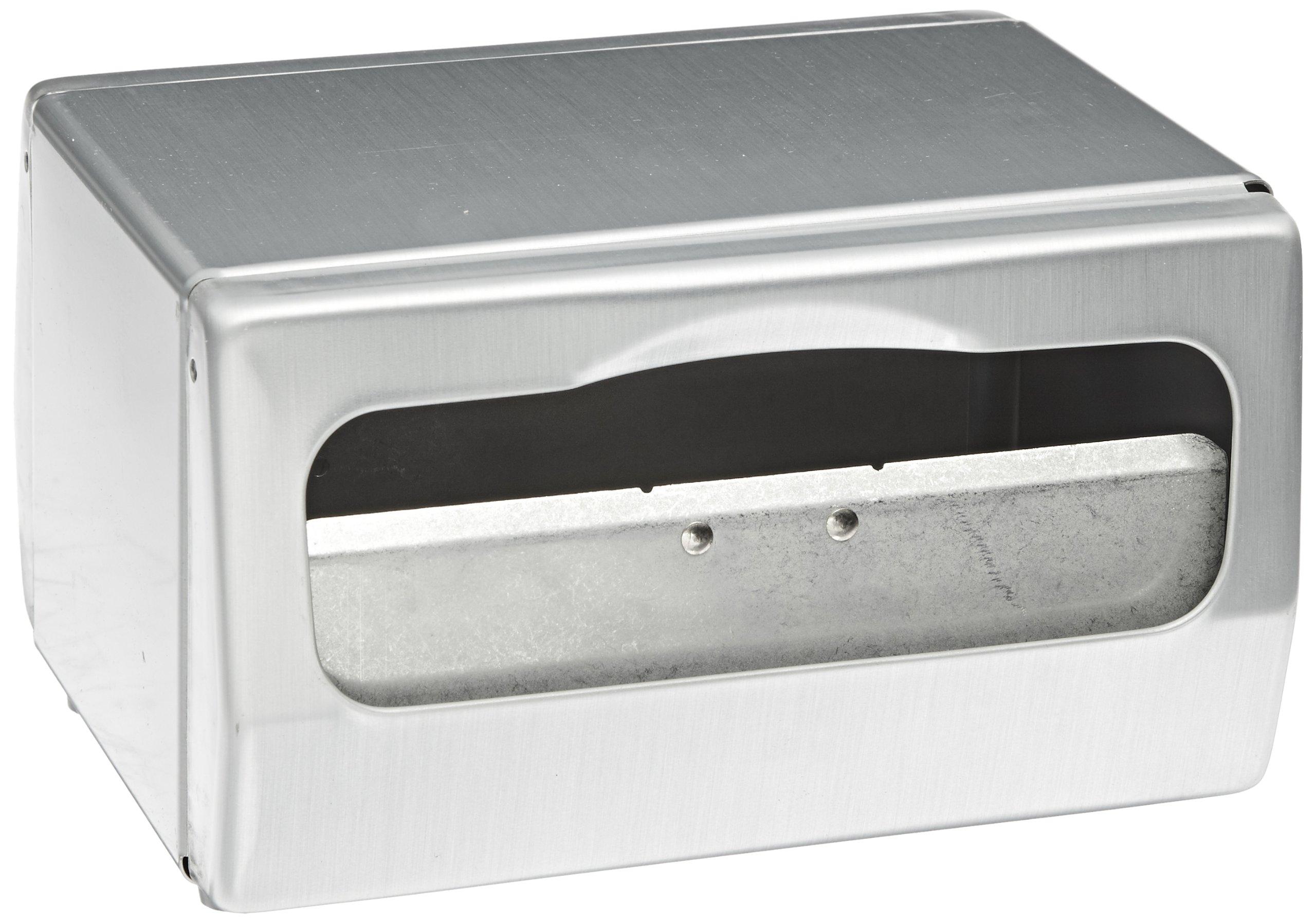 San Jamar H4000 Steel Tabletop Minifold Napkin Dispenser, 170 Capacity, 7-3/4'' Width x 4-1/2'' Height x 6'' Depth, Chrome