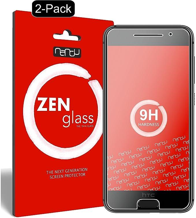 nandu I ZenGlass [2 Stück] Flexible Glas-Folie für HTC One A9 Panzerfolie I Display-Schutzfolie 9H I (Kleiner Als Das Gewölbt