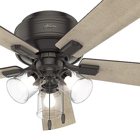 Hunter Fan 52 Inch Noble Bronze Finish Ceiling Fan With Led