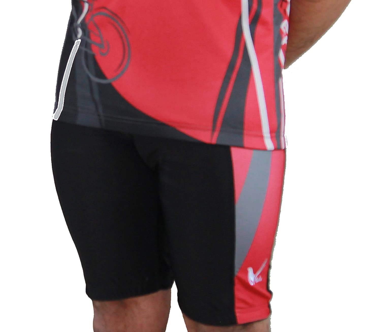 Mens Sublimation Print Gel 3-D Padded Cycling Biking Short