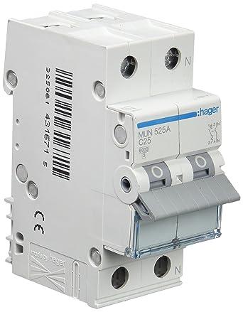 Interruptor magnetotérmico bipolar hager 25A nuevo sin caja