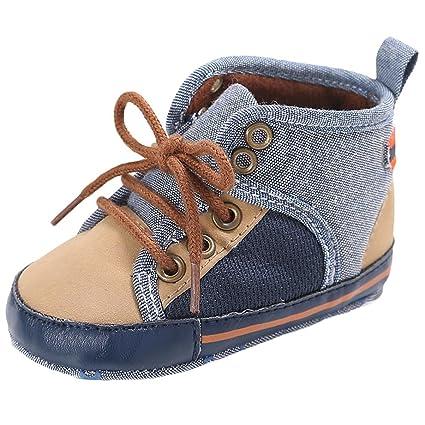 Baby Girls Boys Hight Cut Shoe Shoes Lacing Canvas Shoe Sneaker Anti-slip Shoes