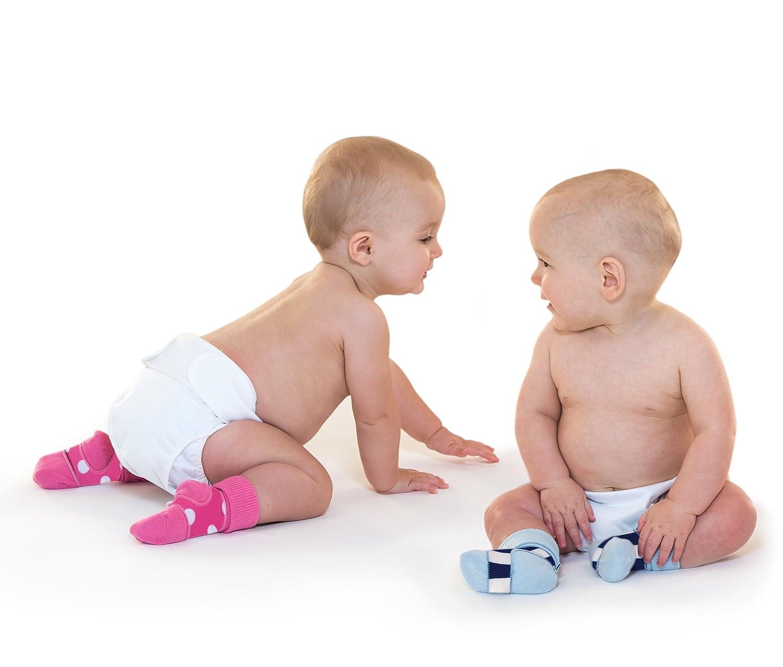 Sock Ons Baby Jungen Socken blau Marineblau gestreift 0-24 Monate