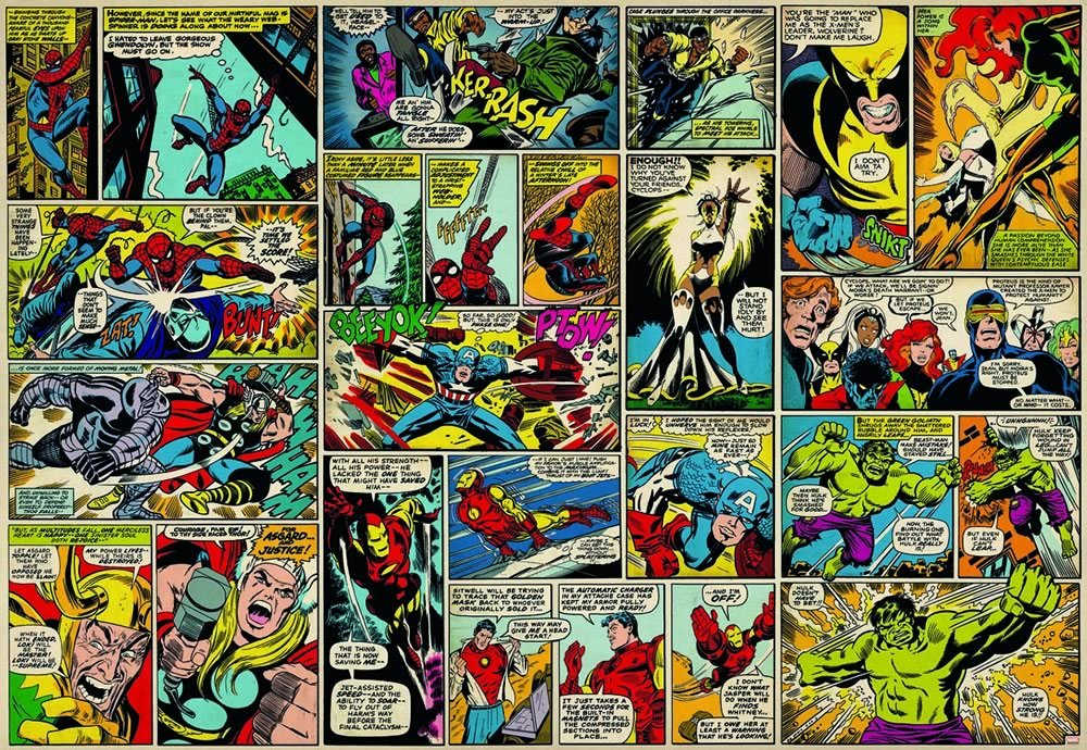 Marvel Comic Heroes Photo Wall Mural 368 X 254 Cm: Amazon.co.uk: DIY U0026 Tools Part 36