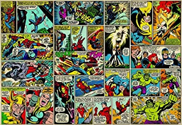 Marvel Comic Heroes Photo Wall Mural 368 X 254 Cm Part 20